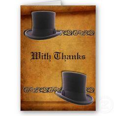 Antique Gay Wedding Custom Thank-You Cards #gaywedding #gaymarriage