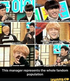BTS manager knows what's up^.^