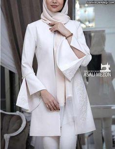Manto Modern Hijab Fashion, Abaya Fashion, Modest Fashion, Fashion Drawing Dresses, Fashion Dresses, Abaya Mode, Hijab Style Dress, Lace Beach Wedding Dress, Wedding Dresses
