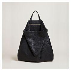 styletaboo:  Tsatsas - Black Leather bag