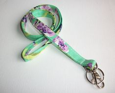 Lanyard  ID Badge Holder  NEW THINNER design  love bliss by Laa766, $7.75  teachers, coaches, nurses and students / preppy / fabric / cute / patterns / key chain / keychain / girly / badge / key leash co-worker gifts / gifts under $10 / designer / car / college  school / college / dorm