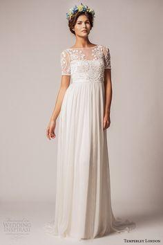 Temperley London Fall/Winter 2015 Wedding Dresses   Wedding Inspirasi. Wedding Dresses - illusion sleeves