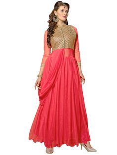 Captivating outfit is guaranteed to bring you lots of compliments.  Item Code:GANA1001V http://www.bharatplaza.com/new-arrivals/gowns.html