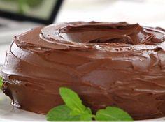 Receita de Bolo de chocolate com calda de ganache da Rita Lobo...