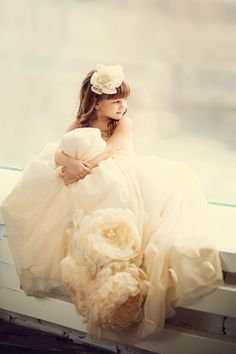 beautiful flower girl gown <3