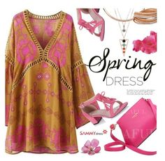 """Sweet Spring Dresses"" by ansev ❤ liked on Polyvore featuring sammydress and springdress"