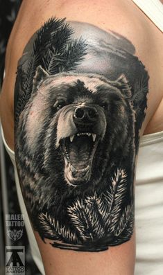 Wolf Bear Chest Tattoos for Men Wolf Tattoos Men, Tribal Wolf Tattoo, Wolf Tattoo Sleeve, Wolf Tattoo Design, Forearm Tattoo Design, Best Sleeve Tattoos, Chest Tattoo, Animal Tattoos, Arm Tattoos For Guys