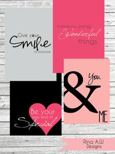 Free Love Themed Printables from Rina Loves