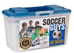 Kaskey Kids Soccer Guys - Inspires Imagination with Open-Ended Play - Includes 2 Full Teams and More - For Ages 3 and Up. Kaskey Kids gives children time to be creative, engaging them in creative play where they control the action. Not only are our products fun and educational when used as a visual teaching aid by coaches and parents, they also make perfect cake toppers, decorations, and centerpieces for sports themed parties and tailgates. ABOUT US: Founded by a mother of four who was in...