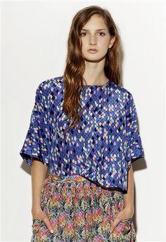 Margarita Saplala Spotted blouse
