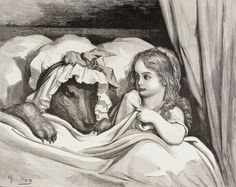 The fear of wolves seems rooted in our genetic consciousness, and in many stories, like Little Red Riding Hood (illustrated above by Gustave Dore, c. 1880), the big bad wolf is a menace. But all dogs are 99.98 percent genetically a wolf.  PHOTOGRAPH BY UNIVERSAL HISTORY ARCHIVE, UIG/GETTY