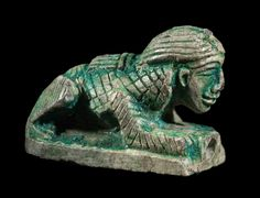 Steatite seal in the shape of a female sphinx. Late Middle Kingdom to Early New Kingdom. 1794–1492 B.C.   The Museum of Fine Arts, Boston