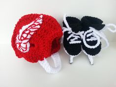 Detroit Red wings helmet and ice skates nhl skates by Dremnstar, $37.00