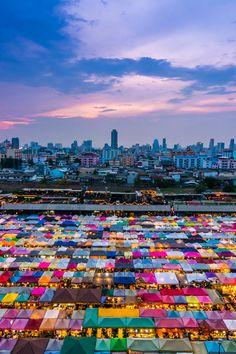 Ratchada train night market, Bangkok, Thailand