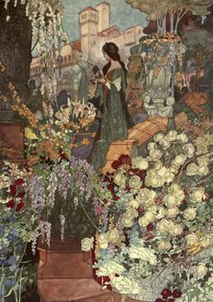 """heaveninawildflower: """" 'A Lady, the wonder of her kind, Whose form was upborne by a lovely mind' Illustration by Charles Robinson from 'The Sensitive Plant' by Percy Bysshe Shelley. Published by..."""