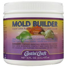 Now you can duplicate figurines, sculptures and other items with safe, brushable latex rubber.    Mold Builder will not stick to metal, clay, ceramics, plaster, wood or polymer clay -- however some items should be sealed first with resin spray or acrylic lacquer.    Mold Builder molds are durable, reusable, and economical to make. The molds you make from Mold Builder can be used to cast paper, plaster, candle wax, soap, casting resin or casting epoxy.    Each container has 16-ounces.…