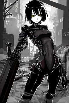 Safebooru is a anime and manga picture search engine, images are being updated hourly. Cyberpunk Anime, Cyberpunk Art, Manga Art, Manga Anime, Alita Battle Angel Manga, Cyborg Girl, Robot Girl, Estilo Anime, Ex Machina