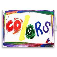colors rainbow card