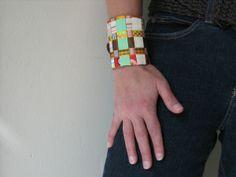 Ribbon cuff bracelet