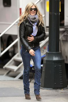 Jennifer Aniston Leather Jacket - Jennifer Aniston Looks - StyleBistro