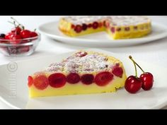 This recipe for cherry clafoutis is one of the easiest French desserts you can ever make, simply perfect for cherry season and is absolutely amazing. Romanian Desserts, Romanian Food, Romanian Recipes, Vegetarian Desserts, No Cook Desserts, Beef Recipes For Dinner, Cooking Recipes, Flan, Clafoutis Recipes
