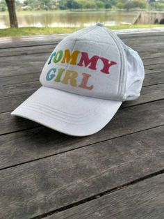 efda9067344 Items similar to Tommy Girl cap 90s Adjustable vintage rare on Etsy