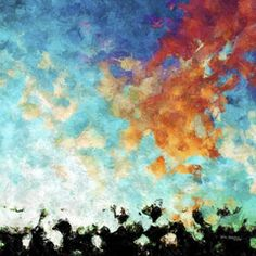Panoramic Modern Art | Hold Fast To Your Faith. Hebrews 4:14 | Limited Edition Christian Art