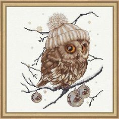 See the pretty Whoo.. Who.. It's Winter Cross Stitch Kit at Nordic Needle
