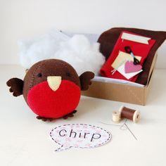 Hacer tu propio Robin gordito juguete Kit Kit de por claraandmacy