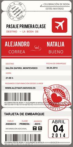 Boda a la vista!! Invitación digital de Ale y Nati. Montevideo 2014