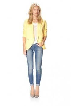 Lemon Twist - a great yellow blazer from French Connection.
