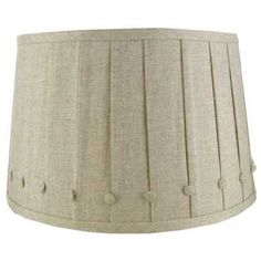Natural Round Shade with Buttons & Pleats