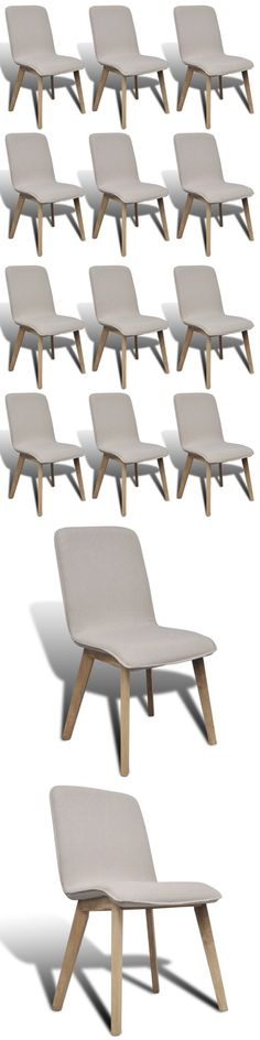 Other Home Furniture 175752: 6 Dining Side Chair Solid Oak Frame Fabric Covered Light Gray Kitchen Furniture -> BUY IT NOW ONLY: $291.99 on eBay!