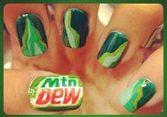 Mt. Dew Nails