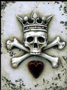 luv sid dickens. King skull #skulls