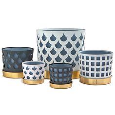 Trio Square kruka S, blå i gruppen Inredningsdetaljer / Dekoration / Vaser & Krukor hos RUM21.se (1026971)