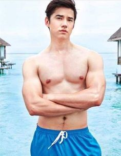 Men's Health (Thailand) September 2014 Mario Maurer, Actors Height, Asian Male Model, Face Anatomy, Hot Asian Men, Male Torso, Stylish Boys, Anatomy Tutorial, Pose Reference