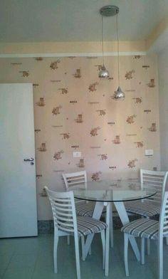 cozinha c papel de parede!!! uauupaper.