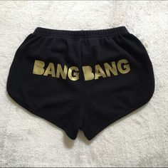 Black Bang Bang Booty Shorts I got there at a concert one year and I've just never worn them. I think they're super cute. The tag says medium but they are a small. American Apparel Shorts