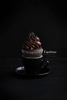 Perfect espresso chocolate cupcakes by Linda of Call Me Cupcake.
