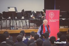 Novelist and playwright Michael Frayn visits the King Solomon Academy as part of the Royal Society of Literature's Education Outreach scheme Michael Frayn, King Solomon, Royal Society, Playwright, Literature, Novels, Education, Literatura, Screenwriter