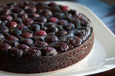 Chocolate and Cherry Cake #cake #dessert #chocolate #cherry