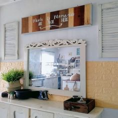 My kampunghouse farmhouse style kitchen Farmhouse Style Kitchen, Mirror, Frame, Furniture, Home Decor, Kitchen Styling, Picture Frame, Decoration Home, Room Decor