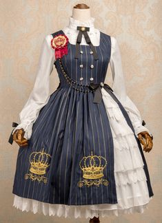 MeowMe -Crown of Brambles- Crown Embroidery Lolita Jumper Dress