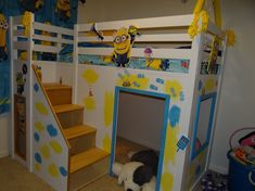 Despicable Me Minion Theme Playhouse Loft bed   Do It Yourself Home Projects from Ana White
