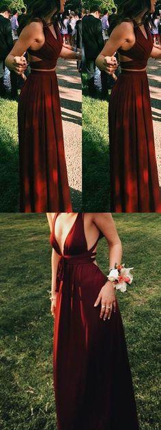 burgundypromdresses twopiecepromdresses two piece prom two piece prom dresses burgundy Matric Farewell Dresses, Matric Dance Dresses, Hoco Dresses, Gala Dresses, Dresses For Teens, Trendy Dresses, Homecoming Dresses, Dress Prom, Prom Dress Two Piece