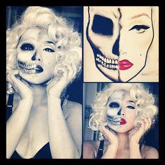 Half Skull Half Monroe. By Pala Foxia