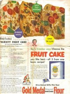 Vintage Recipes From Vintage Magazines | ... Choose the FRUIT CAKE you like best–all 3 from one basic recipe