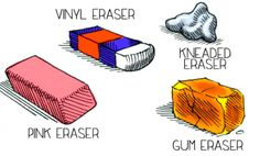 Erasers are just as essential as pencils and paper in drawing! This ultimate guide to the types of erasers will help you decide which kind to use when.