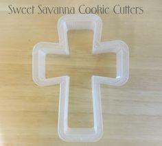 Crucifix Cross Cookie Cutter No3 by SweetSavannaCookies on Etsy